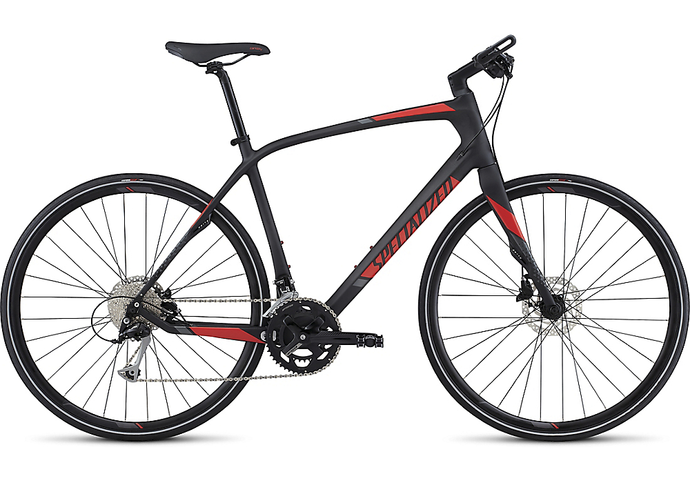 Specialized Sirrus Sport Carbon Carbon/Nordic Red/Charcoal 2017