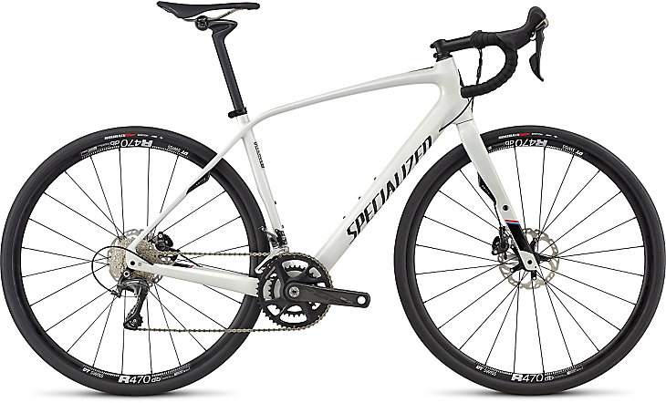 Specialized Diverge Expert M gloss dirty white/satin carbon/martini stripe 2017