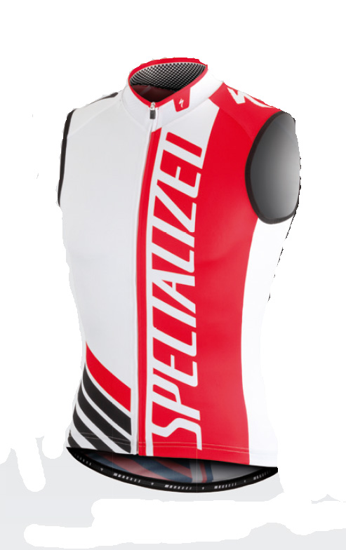 dres Specialized PRO RACING Jersey SVL White/Red/Black - S