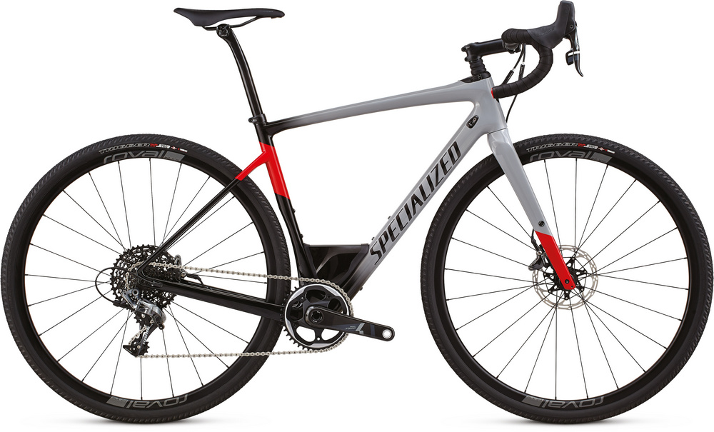 Specialized Diverge expert gloss cool gray/black/flo red 2018
