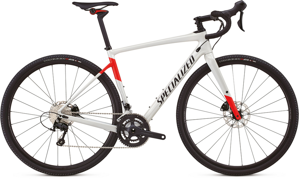 Specialized Diverge comp gloss dirty white/rocket red/tarmac black 2018