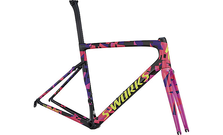 rámový set S-Works Tarmac carbon/purple haze/acid pink/gloss rocket red/yellow 2018