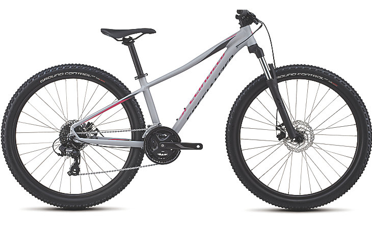 Specialized Pitch 650b WMN satin gloss cool gray/acid pink/black reflective 2018