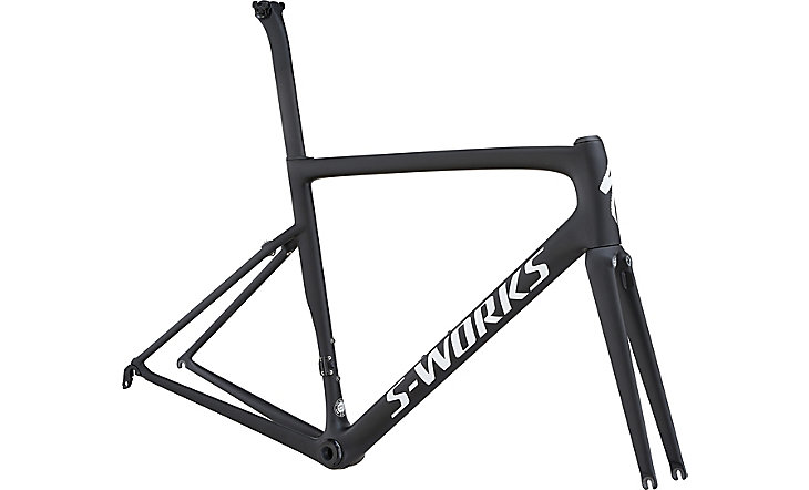 rámový set S-Works Tarmac monocoat black/white reflective clean 2018