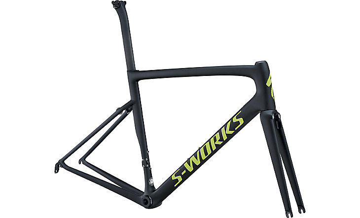 rámový set S-Works Tarmac monocoat black/hyper green/reflective clean 2018